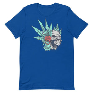 Skull With Feather Unisex T-Shirt - desseni