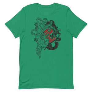 Phoenix And Dragon Unisex T-Shirt - desseni