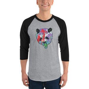 Panda men's 3/4 sleeve raglan shirt