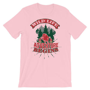 Adventure Begins T-Shirt– Shop for Adventure Begins Unisex T-Shirts Online – Desseni
