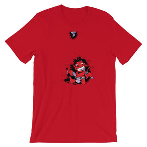 Red Baby Demon Unisex T-Shirt - desseni