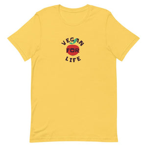 Vegan For Life Short-Sleeve Unisex T-Shirt - desseni