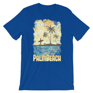 Surfer On Beach Unisex T-Shirt - desseni