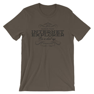 You Are Slower Than Internet Explorer T-Shirt– Shop for You Are Slower Than Internet Explorer Unisex T-Shirts Online – Desseni