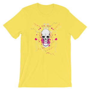 Skull With Chuck Sneaker Yellow T-Shirt– Shop for Skull With Chuck Sneaker Unisex T-Shirts Online – Desseni