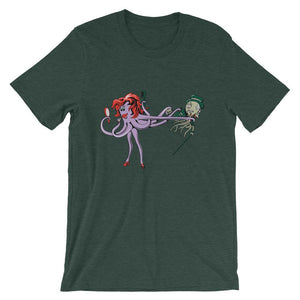 Purple Woman Octopus Unisex Funny T-Shirt - desseni
