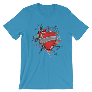 Wounded Heart T-Shirt– Shop for Wounded Heart Unisex T-Shirts Online – Desseni
