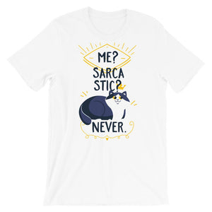 Me Sarcastic Never White T-Shirt– Shop for Me Sarcastic Never Unisex T-Shirts Online – Desseni