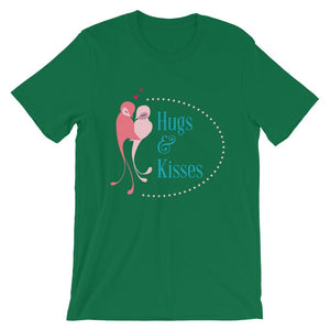 Hugs And Kisses Unisex T-Shirt - desseni