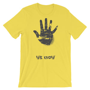 We Know T-Shirt– Shop for We Know Unisex T-Shirts Online – Desseni
