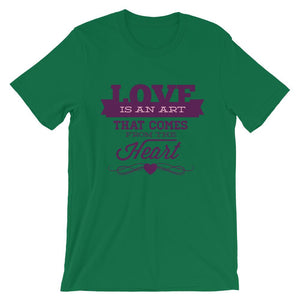 Love Is An Art T-Shirt– Shop for Love Is An Art Unisex T-Shirts Online – Desseni