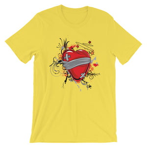 Wounded Heart Unisex T-Shirt - desseni