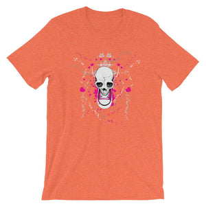 Skull With Chuck Sneaker Orange T-Shirt– Shop for Skull With Chuck Sneaker Unisex T-Shirts Online – Desseni