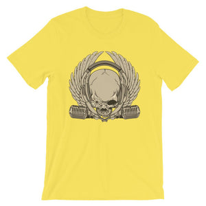 Skull  With Microphone T-Shirt– Shop for Skull  With Microphone Unisex T-Shirts Online – Desseni
