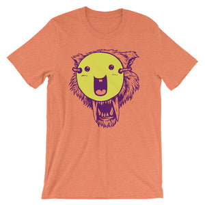 Wolf With The Smiley Mask T-Shirt– Shop for Wolf With The Smiley Mask Unisex T-Shirts Online – Desseni