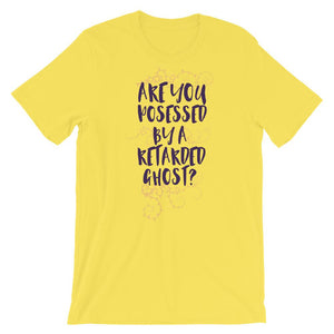 Are You Possessed Yellow T-Shirt– Shop for Are You Possessed Unisex T-Shirts Online – Desseni