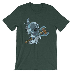 Mask And Axe Unisex T-Shirt - desseni