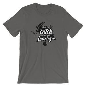 Time to Catch the Falling Leaves Unisex T-Shirt - desseni
