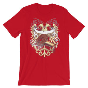 ping pong paddle Double Headed Eagle Unisex T-Shirt