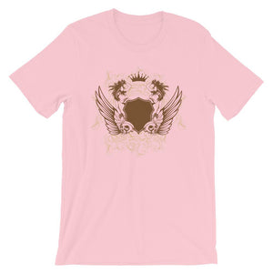 Womens And Skulls Pink T-Shirt– Shop for Womens And Skulls Unisex T-Shirts Online – Desseni