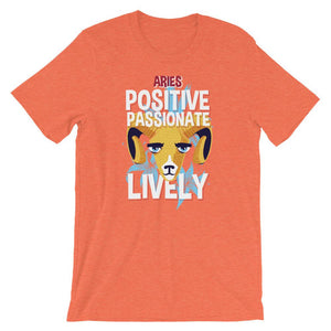 Aries Positive Passionate Lively Orange T-Shirt– Shop for Aries Positive Passionate Lively Unisex T-Shirts Online – Desseni
