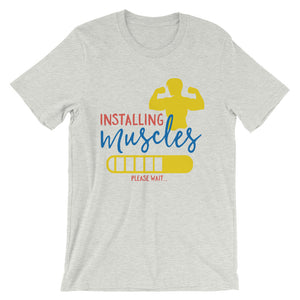 Installing Muscles T-Shirt– Shop for Installing Muscles Unisex T-Shirts Online – Desseni