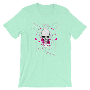 Skull With Chuck Sneaker Mint T-Shirt– Shop for Skull With Chuck Sneaker Unisex T-Shirts Online – Desseni