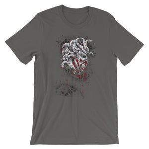 Snake Haired Monster Grey T-Shirt– Shop for Snake Haired Monster Unisex T-Shirts Online – Desseni