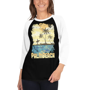 Palm beach women's 3/4 sleeve raglan shirt - desseni