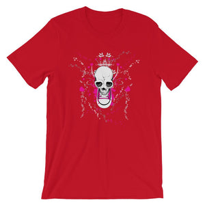 Skull With Chuck Sneaker Red T-Shirt– Shop for Skull With Chuck Sneaker Unisex T-Shirts Online – Desseni