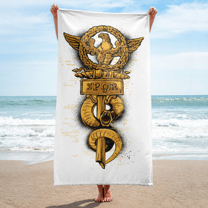 Eagle and Snake Spor Towel - desseni