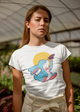 Rabbit with butterfly desseni t-shirt