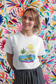 Peace land  beach Unisex T-Shirt - desseni