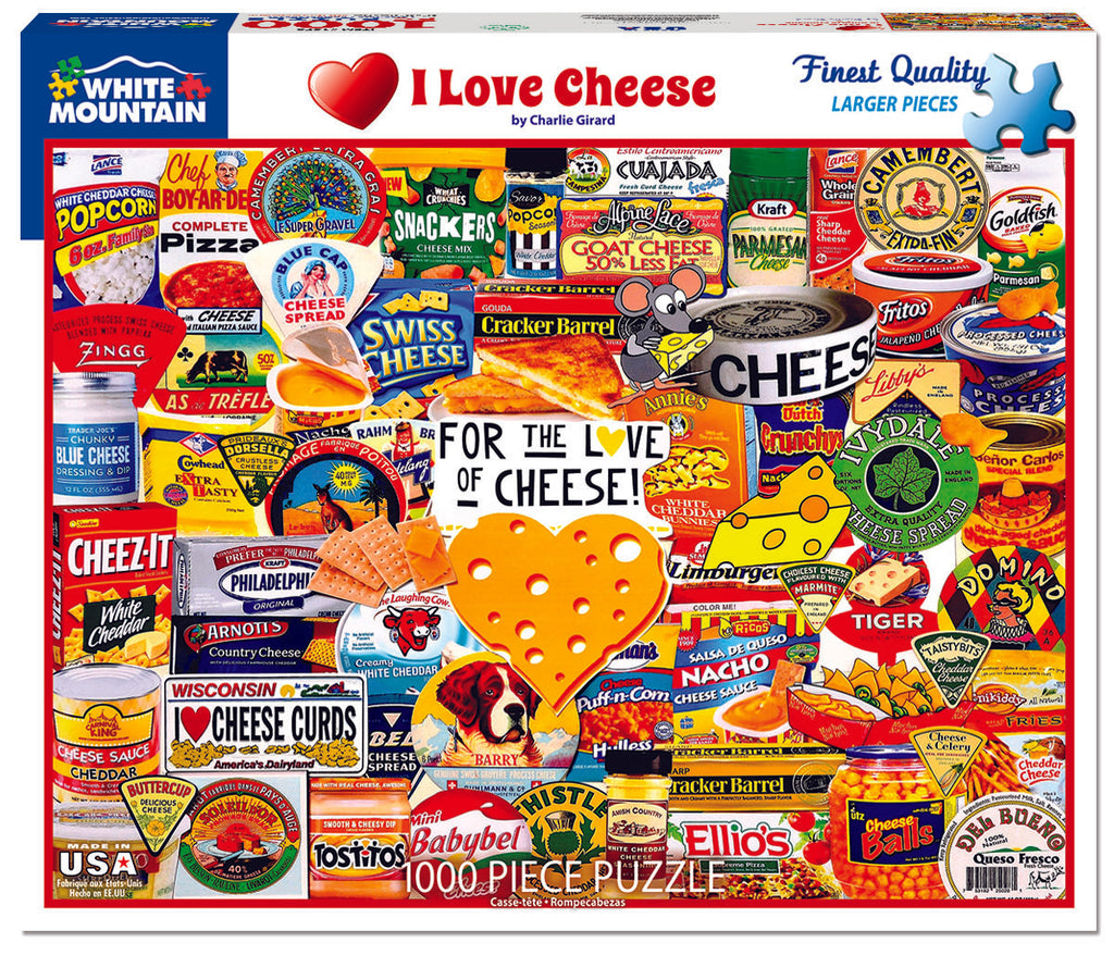 I Love Cheese (1578pz)- 1000 Piece Jigsaw Puzzle