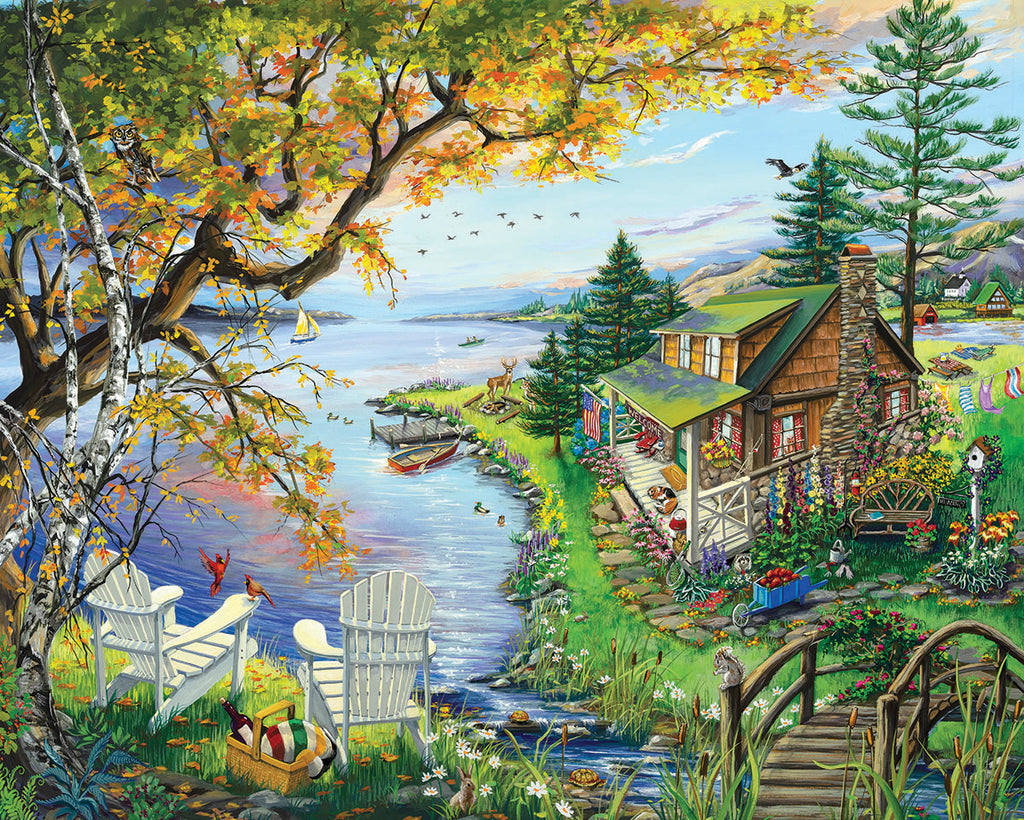 By The Lake (1520pz) - 1000 Piece Jigsaw Puzzle