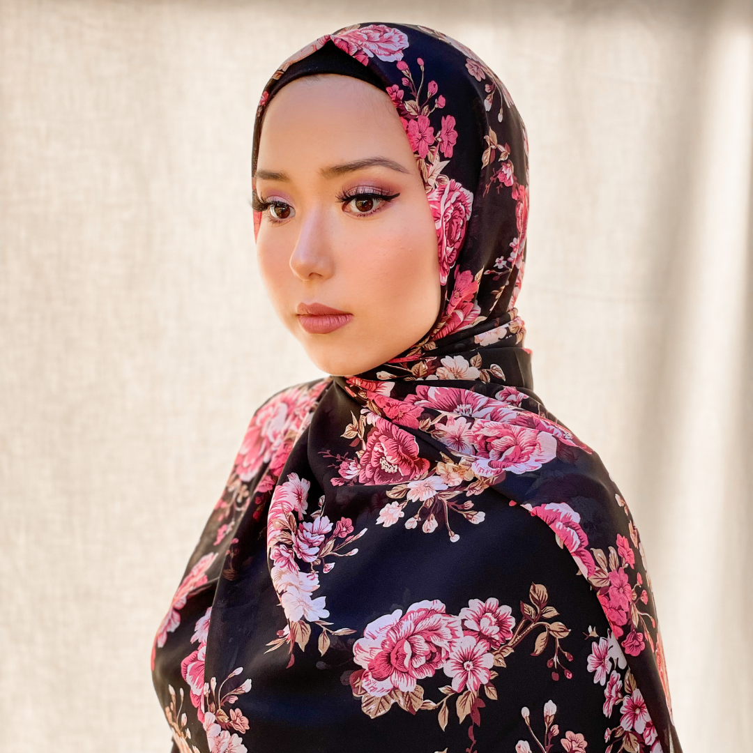 Vintage Rose Hijab - Honey Hijabs