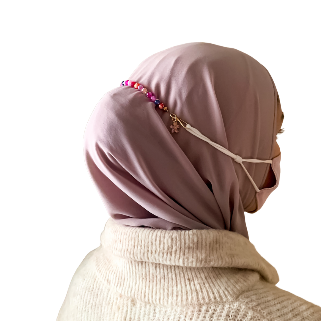 Pink Swirls Ear Savers - Honey Hijabs