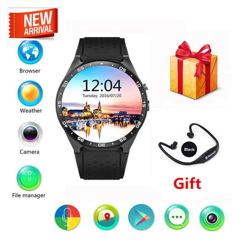 KINGWEAR KW88 Quad Core 1.3GHZ Android 5.1 3G Smart Watch