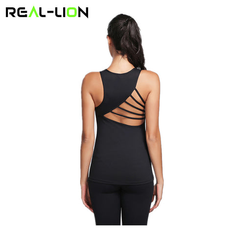 Sleeveless Women's Sports Yoga Top  Backless Breathable Gym Tank