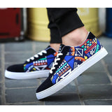Men's Canvas Shoes Tennis  Skateboard Casual Lace up shoes