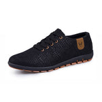 Men Shoes Breathable Casual Low Lace-up Canvas Shoes