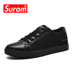 SUROM Men's Casual Platform Mesh Breathable Net Lace up Footwear