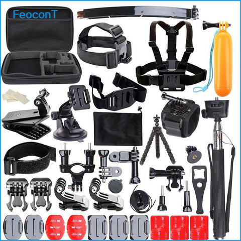 Action Camera Accessories Set Strap Mount Head Chest For most go cams