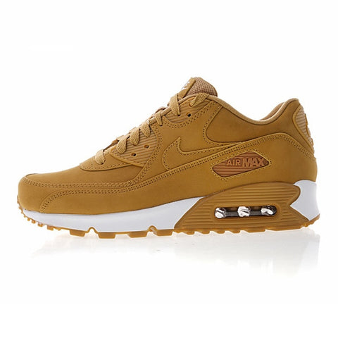 Nike Air Max90 Essential Men's Running Shoes, Dark Yellow, Shock Absorption Breathable Non-slip Lightweight 881105 200