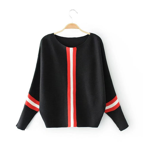 Casual Long Sleeve Womens Sweaters 2018 Winter Autumn Knitted Sweater Women Pullover Women Vertical Stripe Jumper Pull Femme