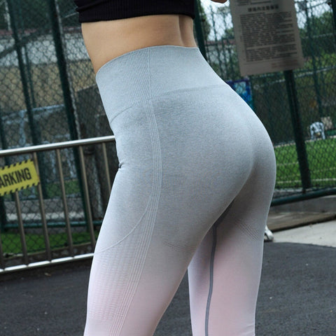 New Women Sport Yoga Pants Sexy Push Up Gym Sport Leggings Women Running Tights Skinny Joggers Pants Compression Gym Pants
