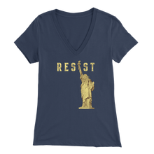 RESIST Womens V-Neck Shirt