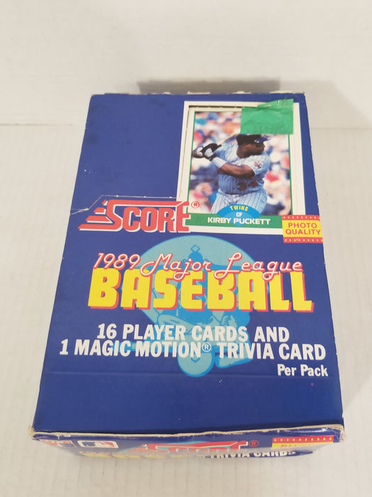 Score 1989 Major League Baseball Card Set