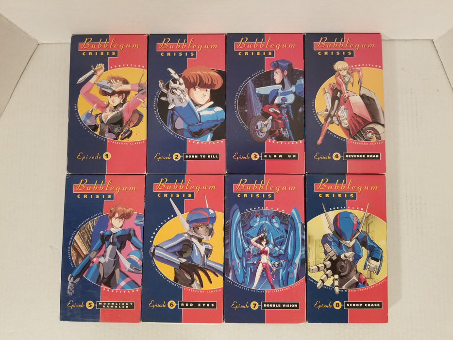 Bubblegum Crisis VHS Set of 8