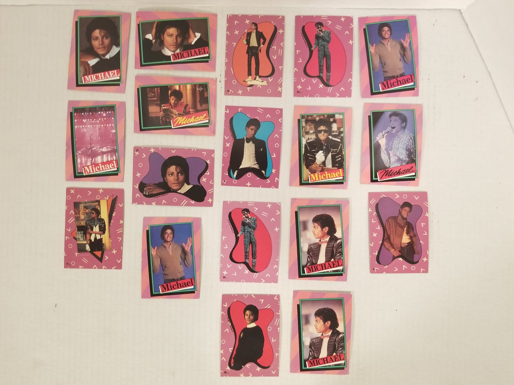 Set of 18 Michael Jackson Topps Cards